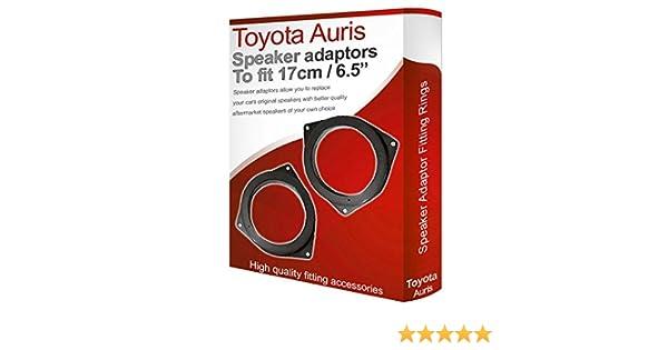 "Toyota Auris speaker adapter pods Rear Side Panel 17cm 6.5"" fitting ring adaptor"
