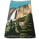 IMERIOi Asciugamano, Yosemite Falls - Parco Nazionale di Yosemite, California Asciugamani da Cucina - Strofinaccio - Lavabile in lavastoviglie