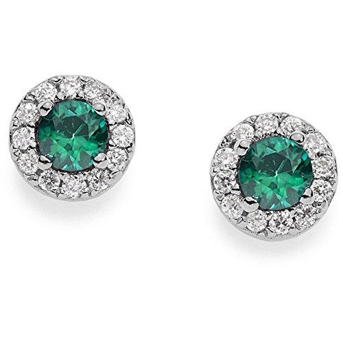 ORB 749 Comete Gioielli Orecchini con diamanti e smeraldo