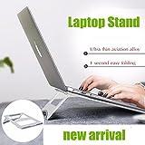Shree Ergonomic Design Folding Aluminium Laptop Stand Riser ~ Fanless Cooling Pad. Perfect