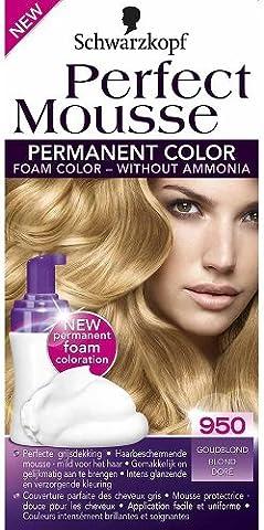 Schwarzkopf Perfect Mousse Couleur des cheveux blond doré 950