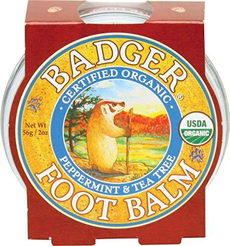 Badger Fußbalsam (Peppermint & Tea Tree) [0,75 Unzen Tin] - Alba Massage-Öl