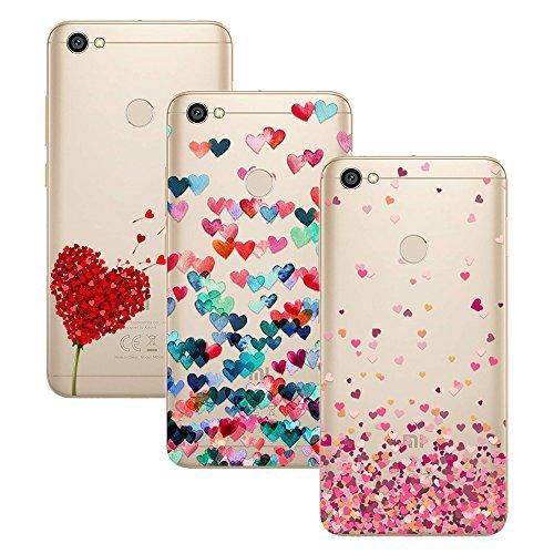 Young & Ming Xiaomi Redmi Note 5A Prime Funda, [3 Pack] Carcasa Transparente Slilicona Suave TPU Gel Enjaca Perfecta para Xiaomi Redmi Note 5A Prime, Color 1