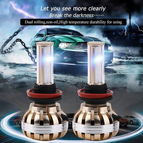 C8 120 W 12000lm 9005/9006 / H1 / H4 / H7 / H8 / H9 / H11 Kit faro LED per auto 6000K (Colore: dorato)