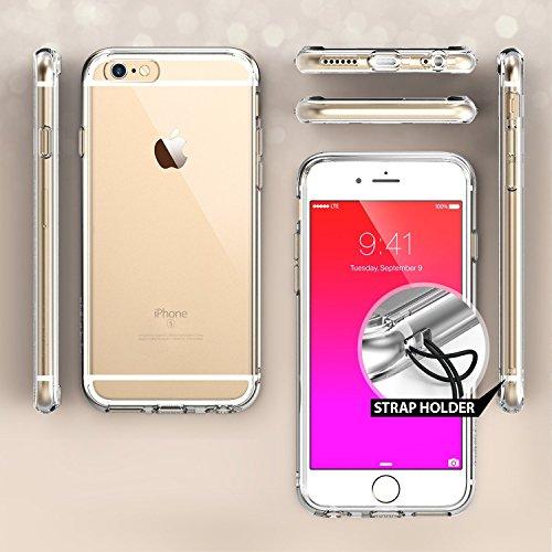 Coque iPhone 6S Plus, Ringke FUSION ***Tous les Nouveaux Capuchon Anti-Poussière*** [Gratuit Protecteur D'écran][ROSE GOLD CRYSTAL] Crystal Clair Panneau de Dos Absorption des Chocs Pare-Chocs dur Étu Black