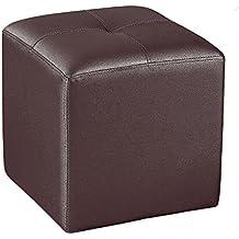 Adec - Pouf polipiel, medidas 35 x 35 cm, color chocolate