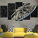 XLST Décoration Murale Toile Image Star Wars Batman Affiche 5 Pièces Art Home Encadrée HD Peinture sur Toile,B,10x15x2+10x20x2+10x25x1