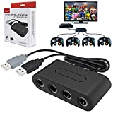 EDTara 4 Port Gamecube NGC Controller Adapter for Nintend Wii U & Switch and PC