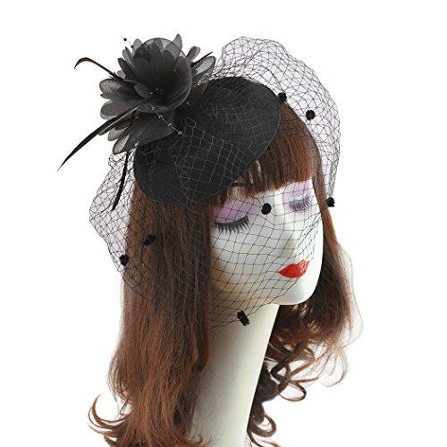 70e5c63230 dressfan Diadema Fascinador Celebrity Pelo Sombrero de la flor tocado Velo.