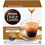 NESCAFÉ Dolce Gusto Espresso Caramel Coffee Pods, 16 Capsules (16 Servings)