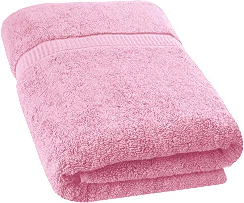 Utopia Towels - Badetuch groß aus Baumwolle 600 g/m² - Duschtuch, 89 x 178 cm (Rosa)