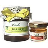 Farm Naturelle-Raw Natural Unprocessed Tulsi Forest Flower Honey - 250 Grams With 40 Gms Forest Flower Honey (...