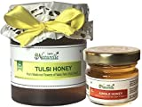 #10: Farm Naturelle-Raw Natural Unprocessed Tulsi Forest Flower Honey - 250 Grams with 40 Gms Forest Flower Honey (Ayurved Recommended)-Huge Medicinal Value