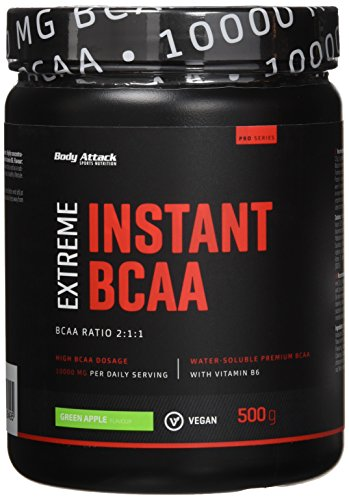 Body Attack Instant BCAA Extreme, Green Apple, 1er Pack (1 x 500 g)