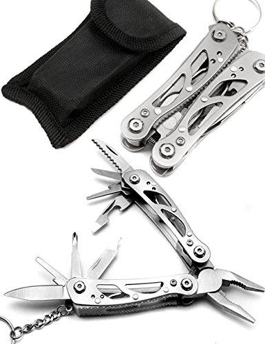 Outdoor saxx® - 10 en 1 Multi outil pince | Vélo, camping, voyage | Scie, Lime Pince, couteau, tournevis pour vis | Méga Forte et maniable, acier inoxydable