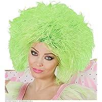 Green fluorescent wig for women (peluca)