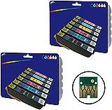 2 Sets of non-original XL Ink Cartridges for Epson Expression Photo XP-750, XP-760, XP-850, XP-860, XP-950