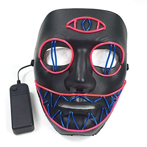 Forart Halloween Maske LED Leuchten Maske LED Kostüm Maske für Festival Cosplay Halloween Kostüm