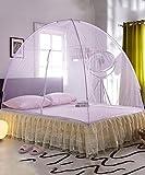 Party Mädchen S Bett dekoratives Netz Betthimmel Kuppel Moskitonetz offene Tür Prinzessin Insektenschutz Bett Baldachin (Farbe: Rosa, Größe: 1,8 x 2 m), violett, 1.2 * 2m
