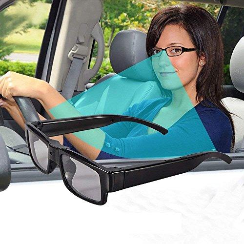 OMOUP Cámara Oculta Espía 16GB HD Eyewear Estilo Ocultos Cámara Gafas de Vídeo Digital Spy Ocultos Eyewear Cámara de Vídeo Portátil Mini DV