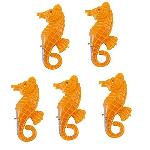 sourcingmap® 5stk Fisch Schüssel orange Plastik emulational bewegliches Seepferd Dekor