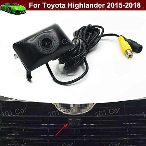 Wasserdicht Auto Fahrzeug Auto vor View Kamera Logo Embedded Kamera KFZ Front Grill Kühlergrill Kamera CCD breit Grad für Toyota Highlander 2015201620172018