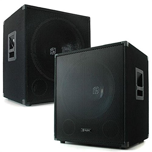 Coppia set kit 2 casse dj pa bassi subwoofer 45cm 2000W
