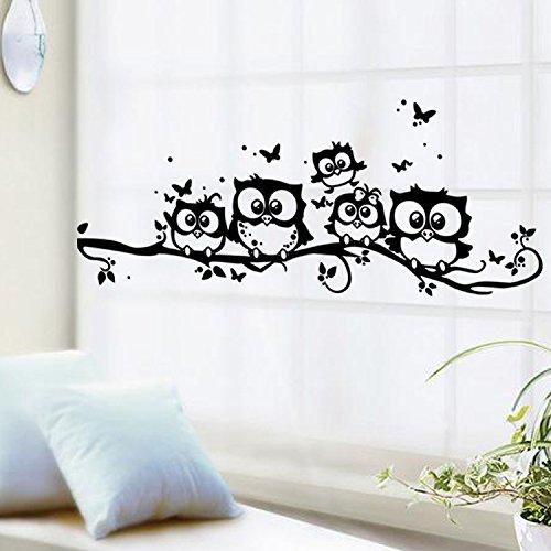 ufengke® carta del taglio stile cinque gufi adesivi murali,camera ... - Stickers Murali Camera Da Letto