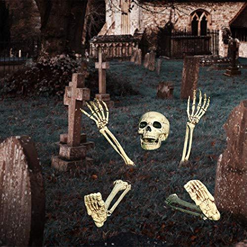 Libertry Realistische Skeleton Stakes Halloween Schädel Horror dekorative Garten Stakes Requisiten, Indoor Outdoor Friedhof besten Halloween Yard Dekorationen von Cokeymove stylish -