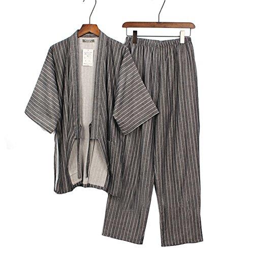 Yukata de algodón cómodo, ambiente y estilo de diseño sutil. Ser adecuado para la vida hogareña. Haz que la gente se sienta relajada. También tenemos tallas M y L. Apto para la mayoría de las personas. Por favor haga una mensura antes de hacer un ped...