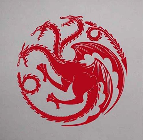 pegatina de pared Juego de tronos Sigils House of Targaryen Decal Etiqueta de la película para sala de estar cuarto de niños dormitorio