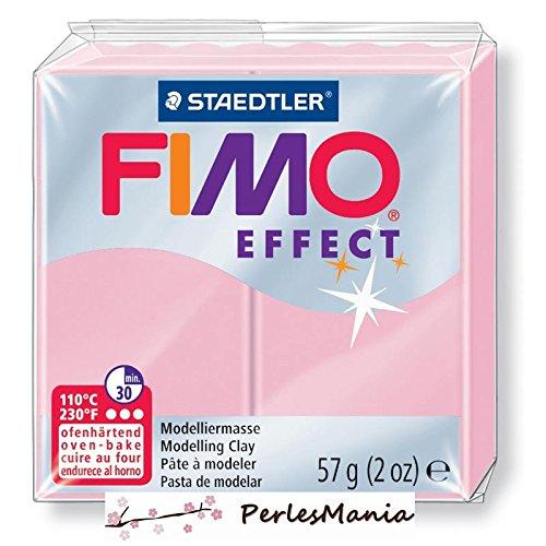 1 panetto di pasta polimerica Fimo Effect, 56 g, 8020-205, Rosa pastello