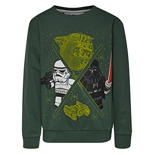 LEGO Wear Jungen Lego Boy Star Wars M-72665-Sweatshirt, Grün (Green 890), 116