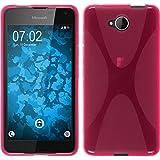 PhoneNatic Case für Microsoft Lumia 650 Hülle Silikon pink X-Style + 2 Schutzfolien