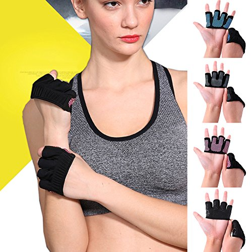 yanbirdfx-Anti-skid-Men-Women-Sports-Fitness-Training-Gym-Crossfit-Four-Fingers-Gloves-Silver-L