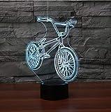 Nachtlicht LED 3D Led Nachttischlampe Bmx Nachtlicht Fahrrad Form Usb Tischlampe 7 Farbwechsel Fahrrad Wohnkultur Schlafzimmer Schlaf Leuchte Geschenke