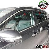 Omac GmbH KIA SPORTAGE Deflettori Aria Antiturbo 4pezzi set anteriore & posteriore a partire dal 2016