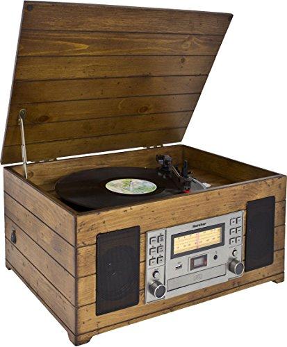 Karcher Nostalgie Musikcenter NO-038, Kompaktanlage mit Plattenspieler, CD-Player, Kassett