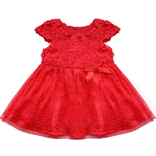 Robe rouge fille 4 ans