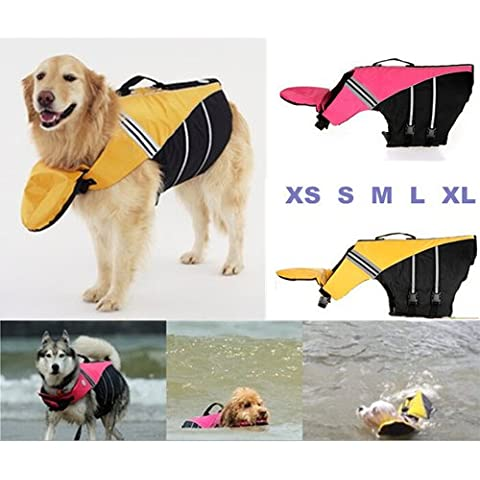 XMY Colour Yellow Small Dog Life Vest Swimming Safety Jacket Nylon by Doggles Sierra Dog Supply XS NEW