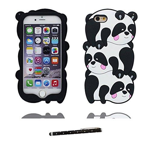 iPhone 7 Custodia, morbida guarnizione TPU in gomma antigraffio protettiva Case copertura per iPhone 7 4.7 Cover + penna di tocco / Cartoon Progettato 3D Sushi COLOR 2