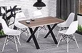 Endo Esstisch Endo Stol X 210 Küchentisch Industrial Loft Design Tisch Metallgestell // Wildeiche