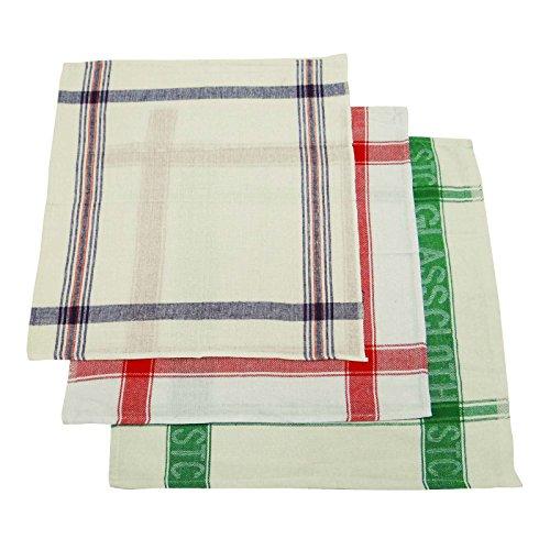 E-tuch Abstauben Tücher (Lot 3 Stück Indische Küche Abstauben Absorbent Multicolor Textur Reinigungstuch)