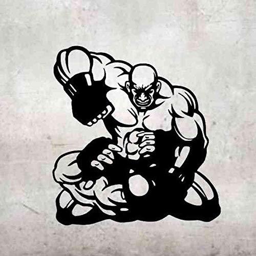 Boxhandschuh Aufkleber Kick Boxer Spielen Auto Aufkleber Free Combat Poster Vinyl Striker Wandtattoos Parede Decor-97x87cm (Boxhandschuhe Spielen)
