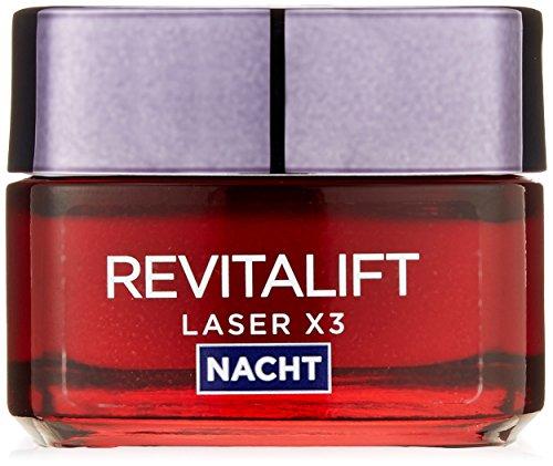 L'Oreal Paris Gesichtscreme Revitalift Laser X3 Anti Aging Gesichtspflege Nacht 50ml