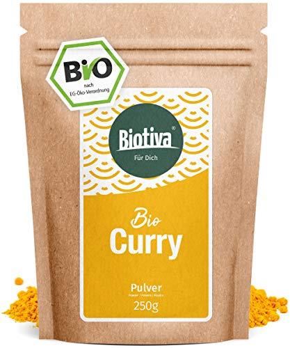 Edel Curry gemahlen (250g, Bio) I Mild-Intensiv nach altem indischen Hausrezept I Top-Qualität ohne Geschmacksverstärker oder künstliche Zusätze I 100% Bio-Zutaten