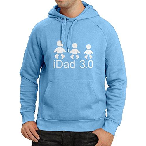 Felpa con cappuccio IDAD 3 migliori papà sempre regali per lui giorno padre regali Azzulo Bianco