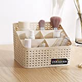 #8: ASkyl Multipurpose Desk Organizer PP Plastic Working Storage Box Case Pen Pencil Holder Plastic Cosmetics Makeup Holder Container=1pic