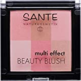 SANTE Naturkosmetik Multi Effect Beauty Blush 01 Coral, Rouge, 6 Farbnuancen, Seidig-weiche Textur, Bio-Extrakte, Natural Make-up, 8g