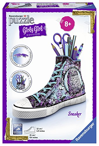 Ravensburger 3D-Puzzle 12085 - Girly Girl Edition Sneaker - Animal Trend - 108-teilig